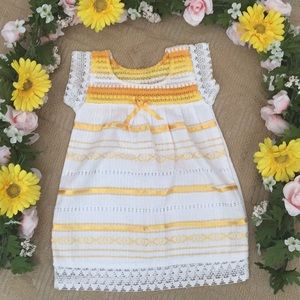 b24842450fb79 Mexican lace and ribbons baby dress size 12-18 m